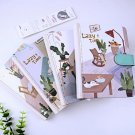 """""""Lazy Time"""" 1pc Hard Cover Diary Cute Cat Notebook Journal Lined Grid Papers"""