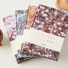 """""""Flower World"""" 1pc Hard Cover Monthly Weekly Planner Lined Grid Diary Notebook"""