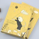 """""""My Story"""" 1pc Hard Cover Kraft Papers Diary Notebook Journal Lined Grid Blank"""