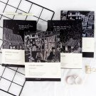 """""""Leisure Holiday"""" 1pc Hard Cover Black Beautiful Art Diary Memo Notebook Notepad"""