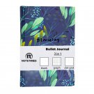 Botanica Bullet Journal Notebook, Mix Blank Web Dot Grid Paper Diary, Medium A5