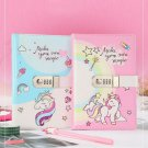 Unicorn Serect Journal with Digital Password Lock Ruled Diary for Children Gift