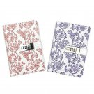 Girls Flower Leather Journal with Combination Password Lock Personal Diary Book