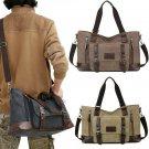 Waxed Canvas Messenger Bag Men Satchel Briefcase 13'' Laptop Bag Crossbody Bag