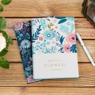 """Flower World"" Big Faux Leather Hard Cover Journal Notebook Lined Blank Papers"