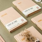 """""""Time Light"""" 1pc Big Kraft Hard Cover Notebook Blank Papers Study Diary Journal"""