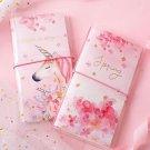 """Unicorn Sakura"" 1pc Faux Leather Journal Cute Diary Notebook Girls Planner Gift"