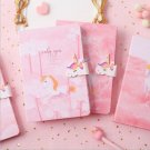 """""""Pink Unicorn"""" 1pc Hard Cover Cute Journal Diary Lined Planner Notebook Notepad"""