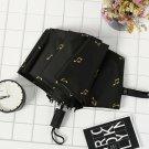 """Love Music"" 1pc Compact Girls Women Fashion Sun Rain Manual Folding Umbrella"
