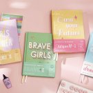 """""""Brave Girls"""" 1pc Journal Diary Hard Cover Cute Notebook Freenote Study Notepad"""