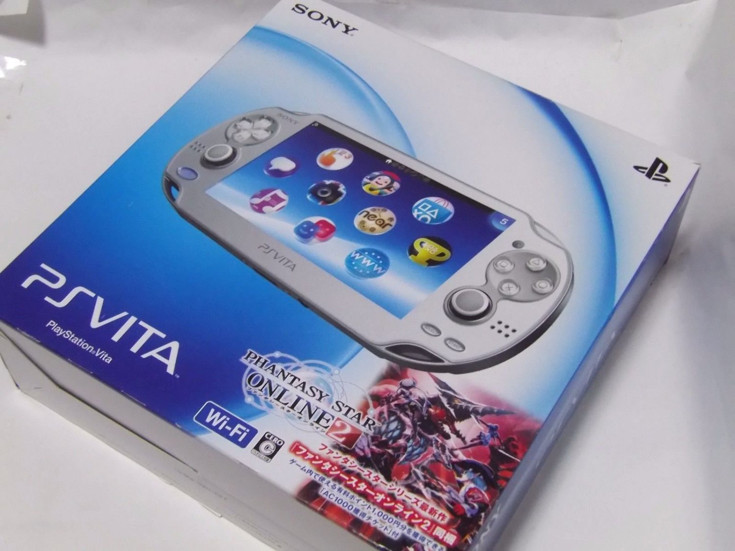 Sony ps vita console system pch 1000 ice silver wi fi for Vita craft factory outlet