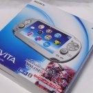 SONY PS Vita Console System PCH-1000 ICE SILVER Wi-fi Model RARE Model