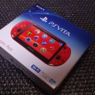 PlayStation Vita Wi-Fi Console System PCH-2000 Metallic Red PS Vita