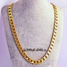 New 10k Yellow Gold Plated 20in Cuban Chain Necklace 4.7MM