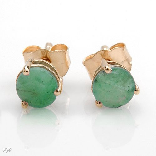 Genuine Emerald Studs
