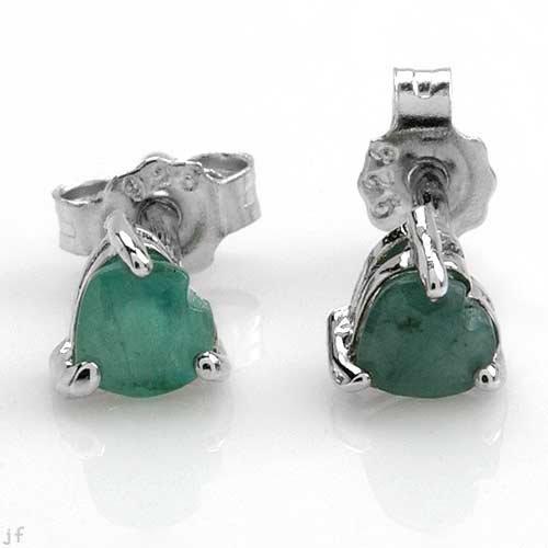 Genuine Heart cut Emerald Studes