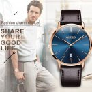 MENS Luxury Ultrathin Wrist Watches Leather Strap Waterproof 30M Stylish Watches
