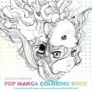 Pop Manga Anime Adult Coloring Book Japanese Beautiful Girls Art Comic  Gift