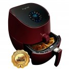 MegaChef 3.5 Quart Airfryer And Multicooker With 7 Pre-Programmed Settings in B