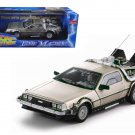 Delorean Time Machine From Movie Back To The Future I 1/18 Diecast Model Car by