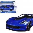 2015 Chevrolet Corvette Stingray C7 Z06 Blue 1/24 Diecast Model Car by Maisto