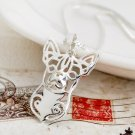 Chihuahua Dog Necklace Pet Lover Pendant Jewelry Dropshipping Silver Girl G