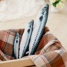 Simulation mackerel Animal Soft Plush Toys Fish Pillow Dolls Kids cats Toy
