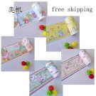 Free Shipping 10M PVC Self Adhsive Wallpaper border Waterproof Bathroom Kit