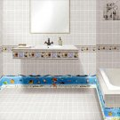 Bathroom wall tile stickers Seabed World Nemo Fish 3d vinyl decals home kit