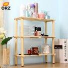 ORZ 3 Layer Desk Wooden Shelf Desk Cosmetic Makeup Organizer Case Kitchen B