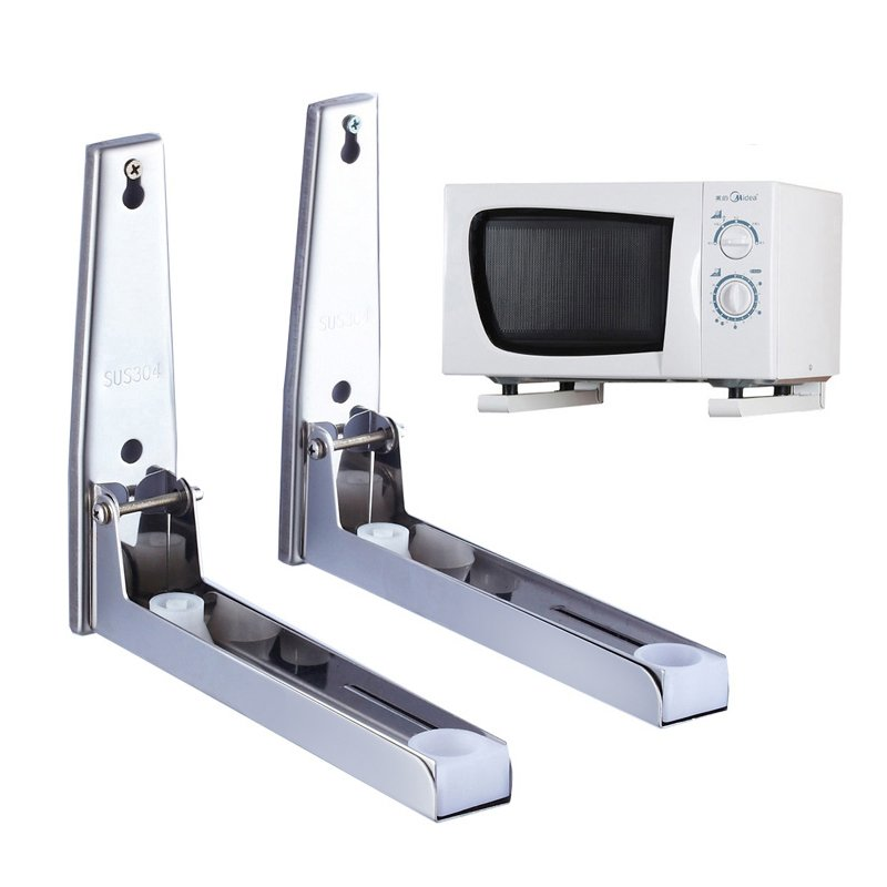 304 Stainless Steel Microwave Oven Shelf rack Can adjust the size and wall
