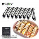 8 pieces Cannoli Forms Dessert Pastry Cream Molds Stainless Steel DIY Bakin
