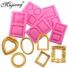 Mujiang 5Pcs Mirror Fondant Cake Decorating Tools Frame Silicone Mold Sugar