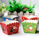 50Pcs New Xmas Style Paper Cake Cup Flower Baking Cup Out Baking Tools Muff