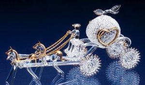 Spun Glass Cinderella's Carriage