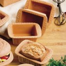 Reco- Romertopf Clay Bakers Mini Bread Baker Set of 4