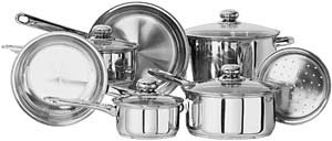 Kinetic- Classicor 11 Piece Stainless Steel Cookware Set