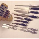 Chicago Cutlery- 12-PC. Block Set - Stainless and Poly Combination Handles
