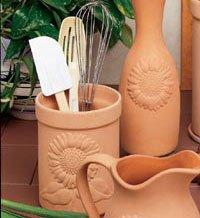 Reco-Romertopf Companion Pieces Utensil Holder - Sunflower