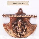 Ganesha Wall Hanging Statue Black Metal Figurine Home Antique Decorative