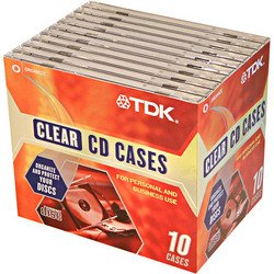 TDK CD Jewel Cases 10pk