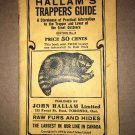 Rare Hallams Trappers Guide 1919 Very Good
