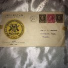 1937 First Day Cover Michigan Centenary Of Statehood G228