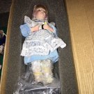 Light Blue Dress Doll With White Bib MIB Danbury Mint