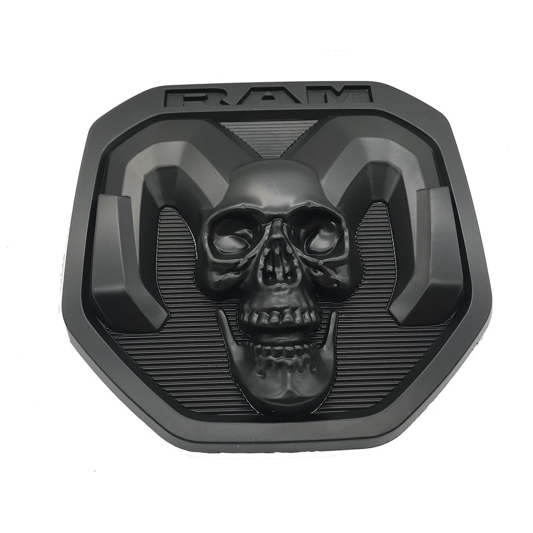 black skull Tailgate head Emblem Medallion Satin Skul 2019-2020 for Dodge RAM 1500 DT 1500 2500 3500