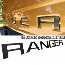 matte black Tailgate 3D Inlay Insert Letters Stickers badge Emblem Not Decals for Ranger 2019 2020
