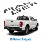Gloss Black Tailgate 3D Inlay Insert Letters Stickers badge Emblem Not Decals for Ranger 2019 2020