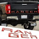 gloss red Tailgate 3D Inlay Insert Letters Stickers badge Emblem Not Decals for Ranger 2019 2020