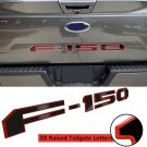 Gloss Black with Red Border Tailgate 3D Inlay Raised Insert Letters Stickers fit for 18-20 Ford F150