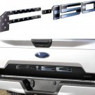 black US flag Tailgate 3D Inlay Raised Insert Letters Stickers badge fit for 18-20 Ford F150